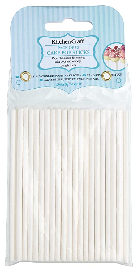 Kitchencraft Sweetly Does It Cake Pop Sticks Paper 10cm Pack Of 50