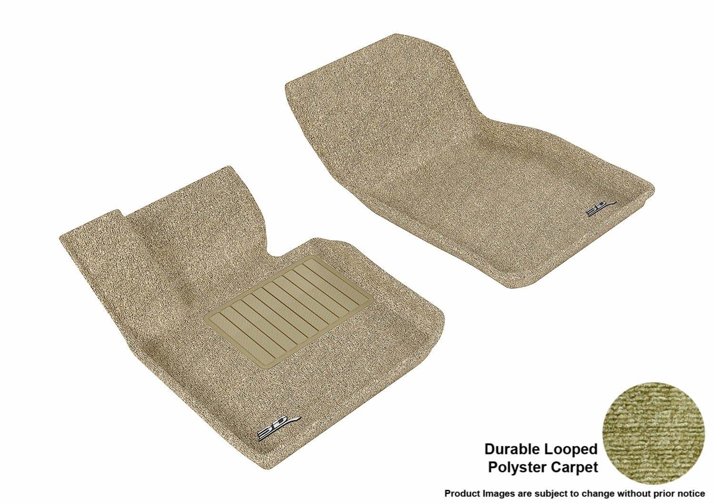 L1MN01002201 Classic Carpet Gray 3D MAXpider All 2 Row Custom Fit Floor Mat for Select Mini Cooper Models