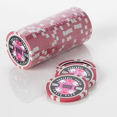 15g Poker Chips–Design–Écureuil Poker Poker Club 15g Poker Chips Couleur = Rose, valeur = $10000