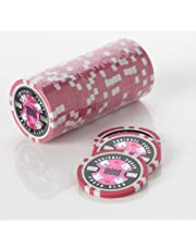 Squirrel Poker 15G Poker Chips - Design Poker Club 15G Poker Chips Colour = Pink , Value = $10000