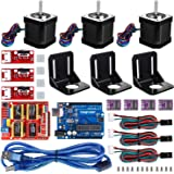 3D Printer CNC Controller Kit with for ArduinoIDE, Longruner GRBL CNC Shield Board+RAMPS 1.4 Mechanical Switch Endstop DRV882