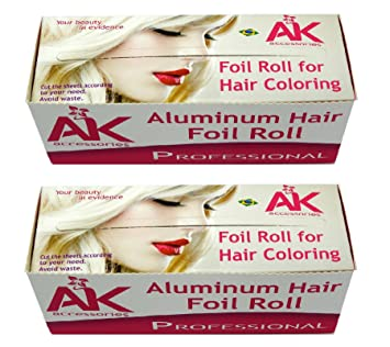 Amazon.com : Aluminum foil for Hair Coloring and Highlighting/Roll ...