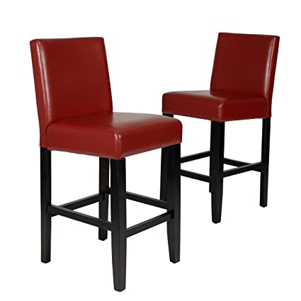 Cool Roundhill Furniture Citylight Counter Height Barstools Set Of 2 Red Gmtry Best Dining Table And Chair Ideas Images Gmtryco