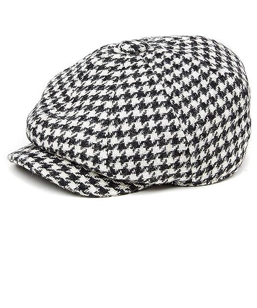aba365aa Holland Cooper Tweed Houndstooth Baker Boy Cap Black at Amazon Men's  Clothing store: