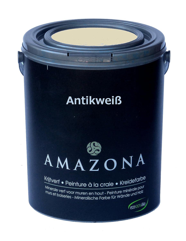 Kreidefarbe Antikweiß Farbe für Antiklook Shabby Chic - 750ml ...