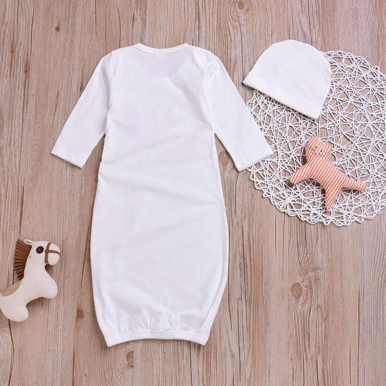 11ec5bfa4 Amazon.com  Newborn Baby Girl Cotton Nightgowns Infant Pajamas ...