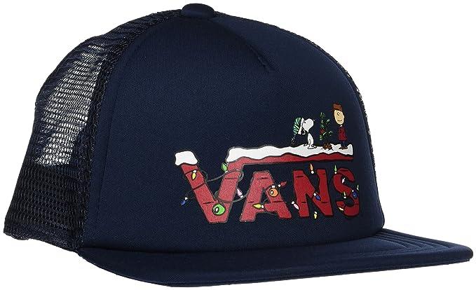 Vans_Apparel Vans X Trucker S, Gorra para Niños, Azul (Peanuts Christmas),