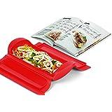 Lékué Microwave Grill, Red microondas, Acero, rojo y negro, 25,4 x 14,5 x 5,3 cm: Amazon.es: Hogar