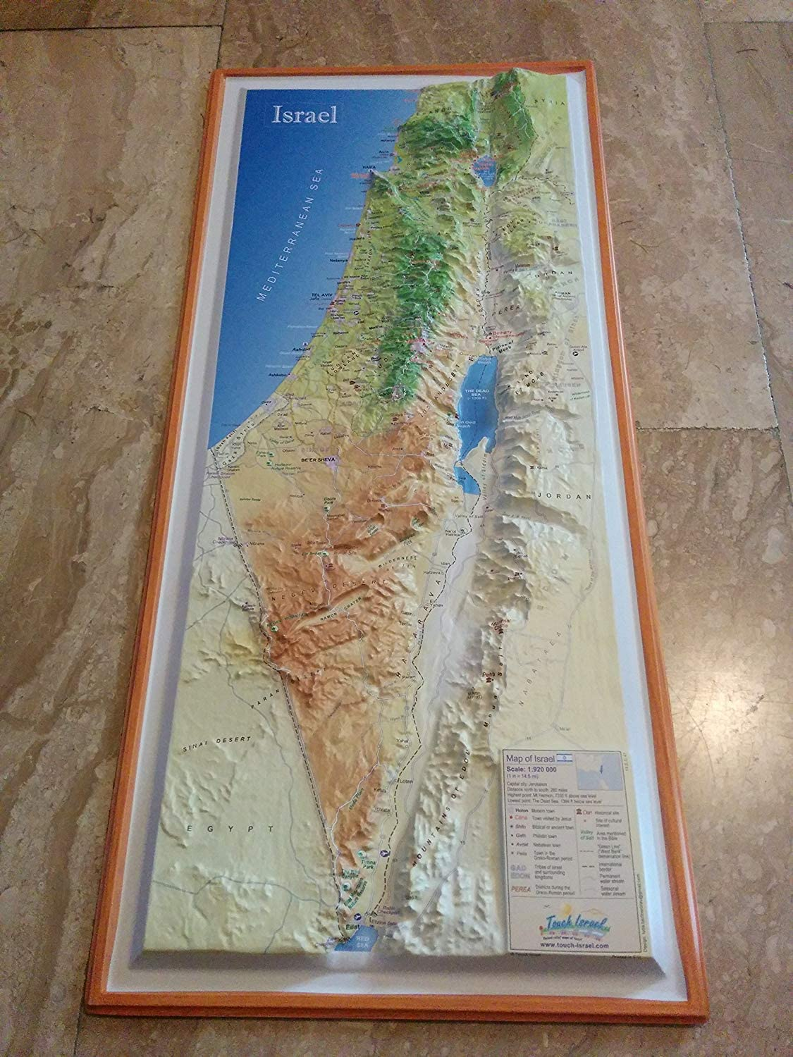indicates places that Jesus has visited Israel Topographical modern map