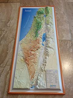Touch-Israel Map Biblical Times Raised Relief 3D Map of 12 Tribes Israel