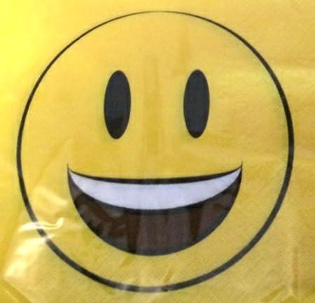 Serviette 33x33 Cm Smiley Emoticon Choose From 4 Different Designs