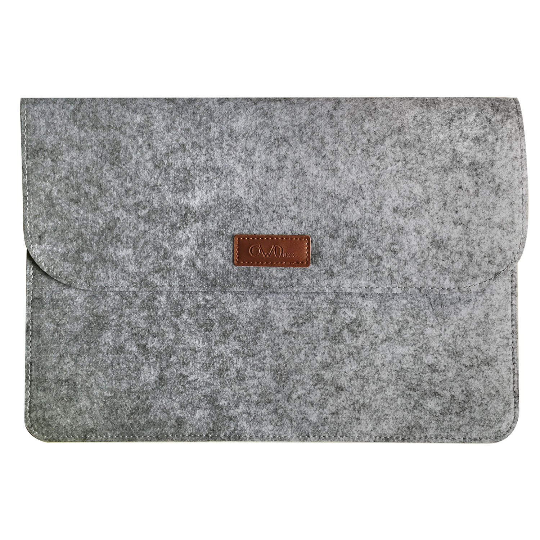 Ownuzz Protective Felt Case Bag Cover for All-New Tracing Light Box, Portable Felt Carrying Pouch Protective Cover Laptop protective cover Big folder Envelope Bag Cover(Light Gray)