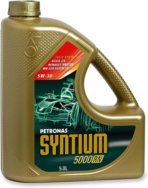 Petronas Syntium 5000 Rn 5w30 Synthetisches Motorenöl 5 Liter Flasche Auto