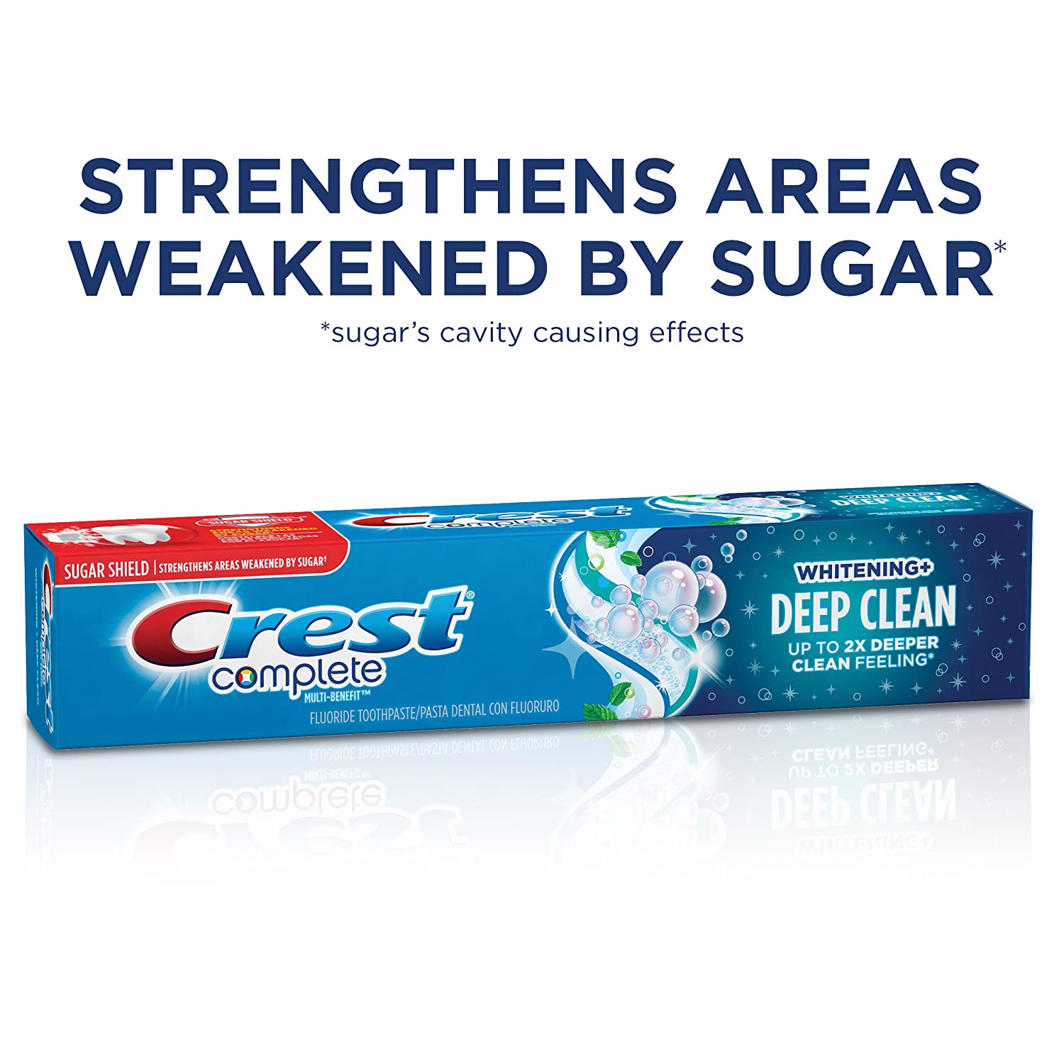 Amazon.com: Crest Complete Toothpaste Whitening + Deep Clean, Effervescent Mint 5.80 oz: Beauty