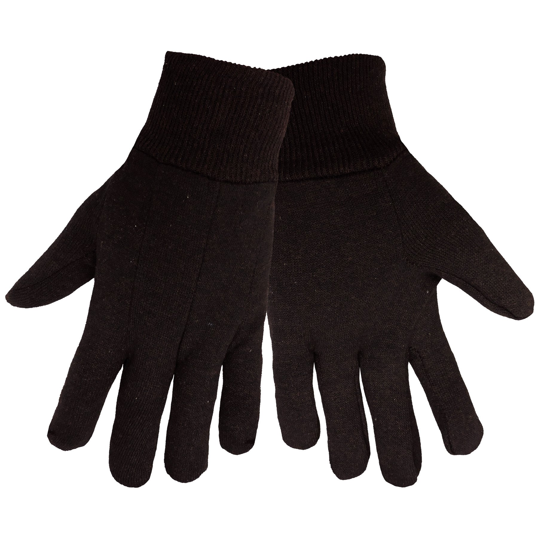 Global Glove C90BJ Cotton Jersey Glove, Work, Mens, Brown (Case of 300)