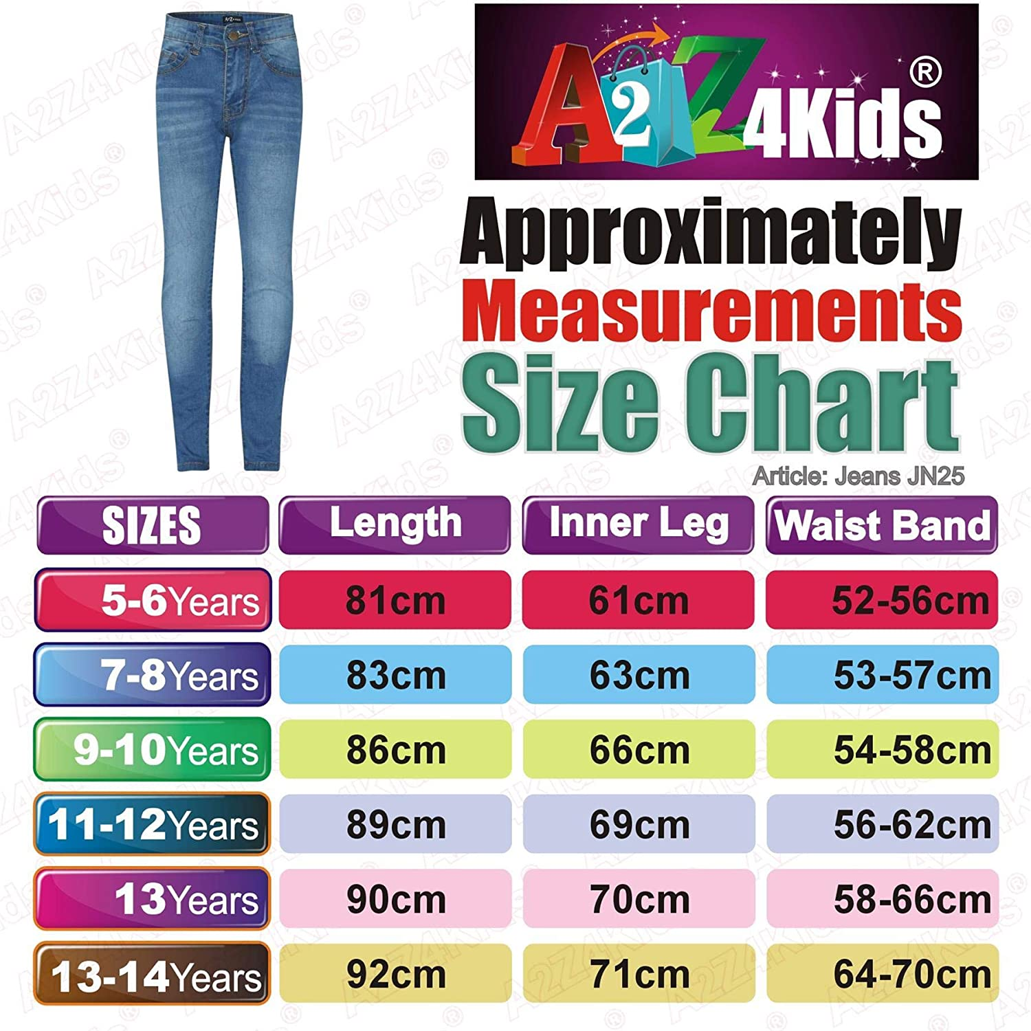 Kids Girls Skinny Jeans Designer Denim Stretchy Pants Fit Trouser New Age 5-13Yr
