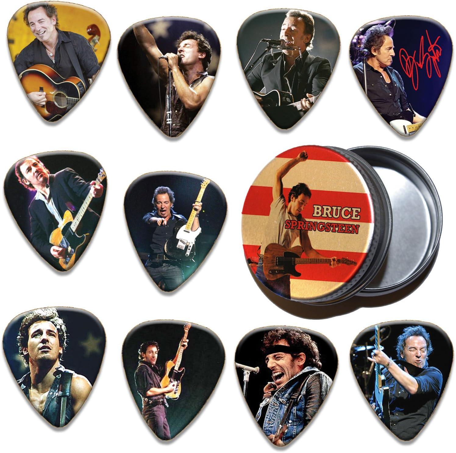 Bruce Springsteen 10 X Guitar Púa Para Guitarra In Tin (Ltd To ...