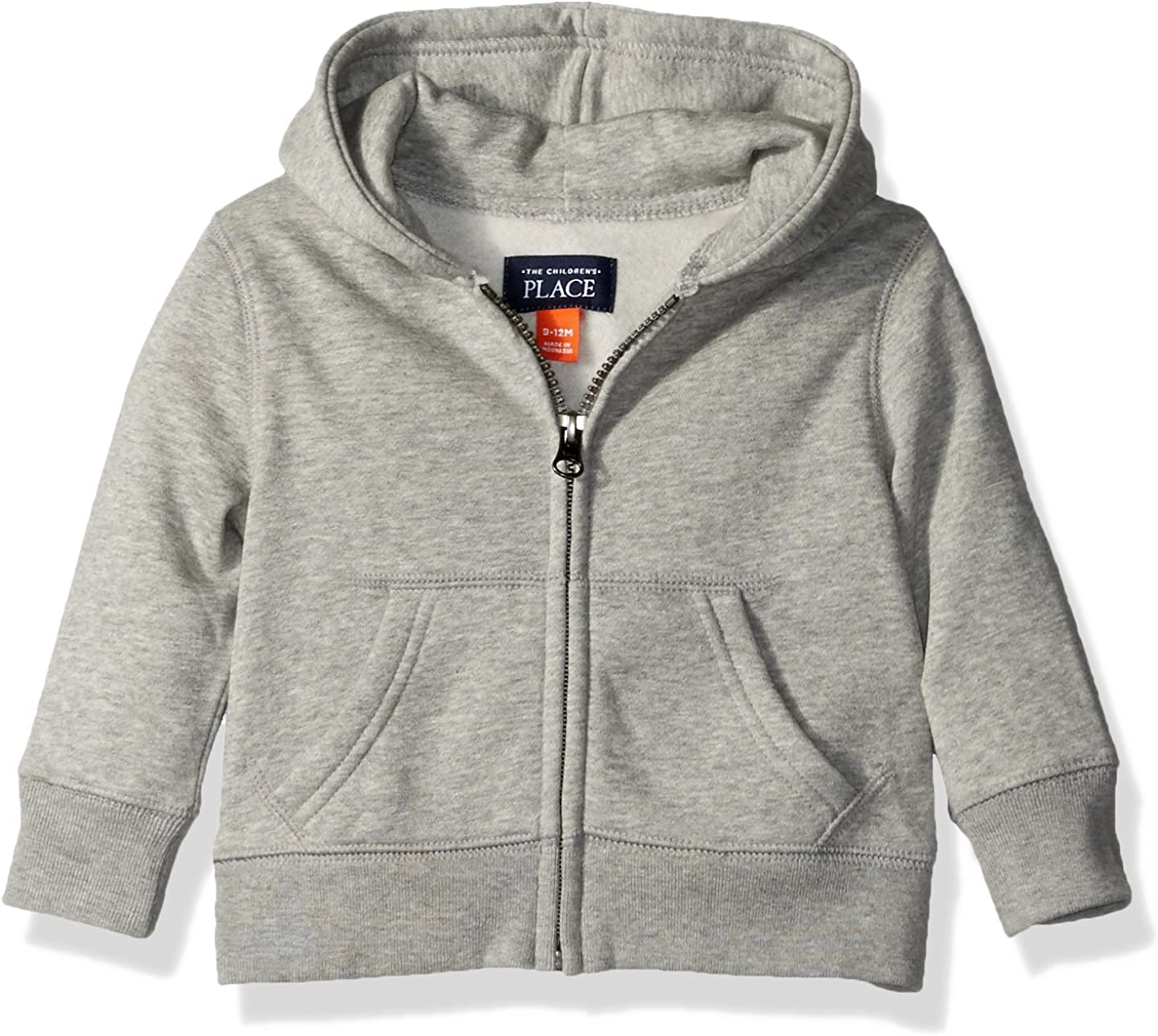 The Children's Place Baby Boys' Gym Uniform Hoodie, Smokey, 12-18 Months: Clothing