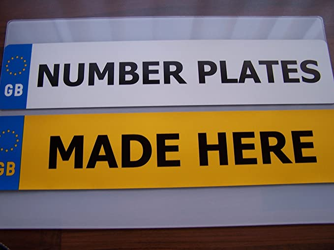 Number Plates Front /& Rear Standard Black Font Premium Quality No Documents