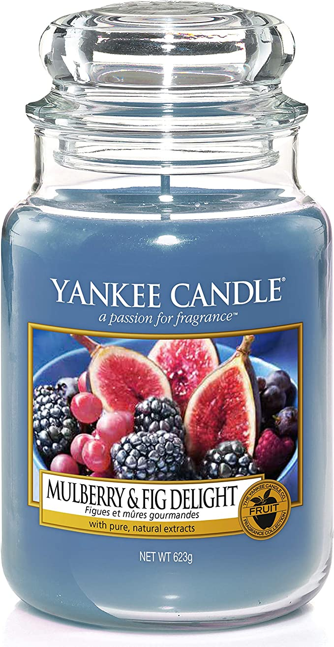 Yankee Candle 5038581016498 Jar Large Mulberry Fig Delight Ysdmfd One Size Kitchen Dining Amazon Com