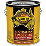Cabot 140.0003460.007 Australian Timber Oil Stain, Gallon, Jarrah Brown