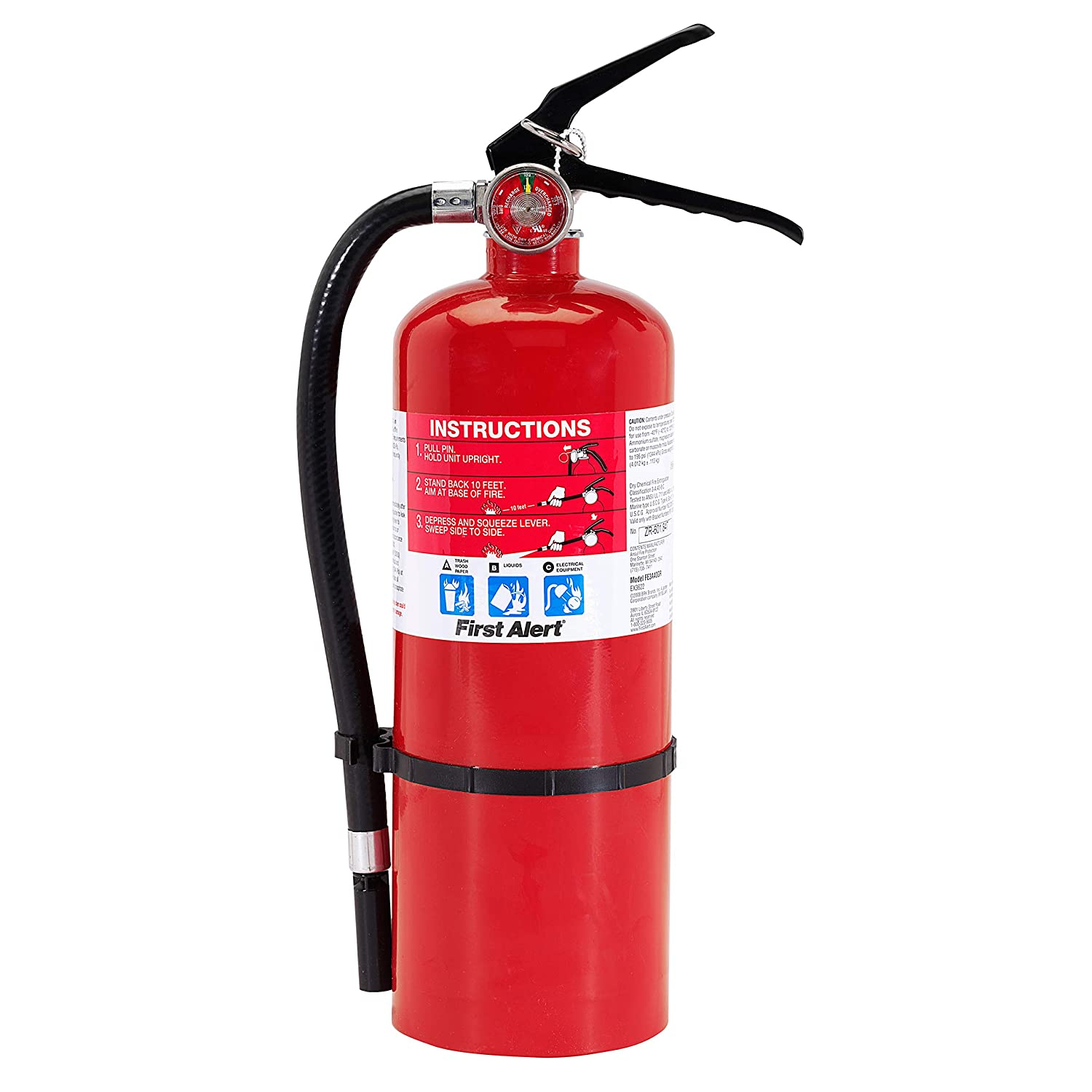 First Alert Fire Extinguisher Professional Fire Extinguisher, Red, 5 lb, PRO5