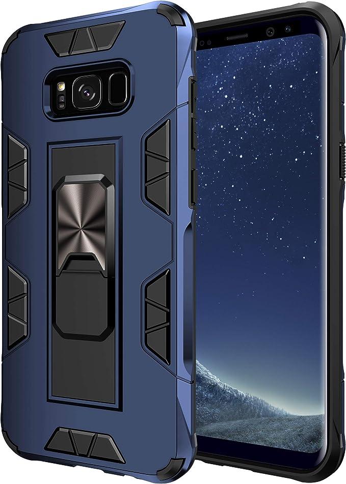 Kuawei S8 S8 Plus Hülle Samsung Galaxy S8 Plus Ständer Eingebautem Case Cover Doppelte Schutzschicht Handyhülle Extrem Fallschutz Schutzhülle Für Samsung Galaxy S8 S8 Plus Blau Elektronik