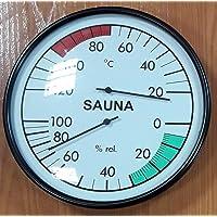 Reloj / higrómetro para sauna (grande)