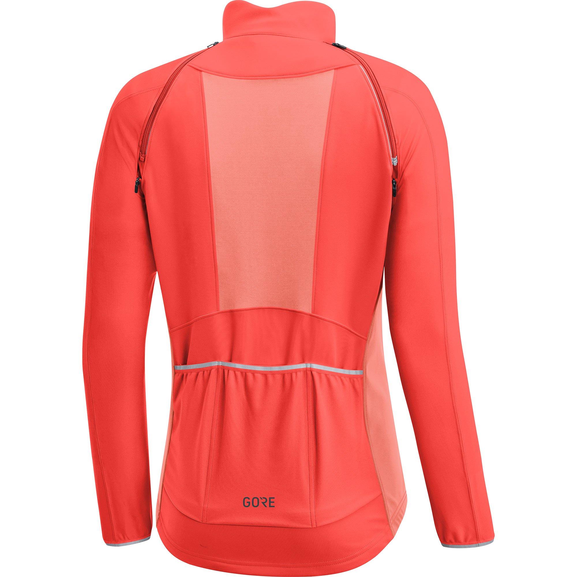 GORE Wear Women's Windproof Cycling Jacket, Removable Sleeves, GORE Wear C3 Women's GORE Wear WINDSTOPPER Phantom Zip-Off Jacket, Size: L, Color: Lumi Orange/Coral Glow, 100191 by GORE WEAR (Image #3)