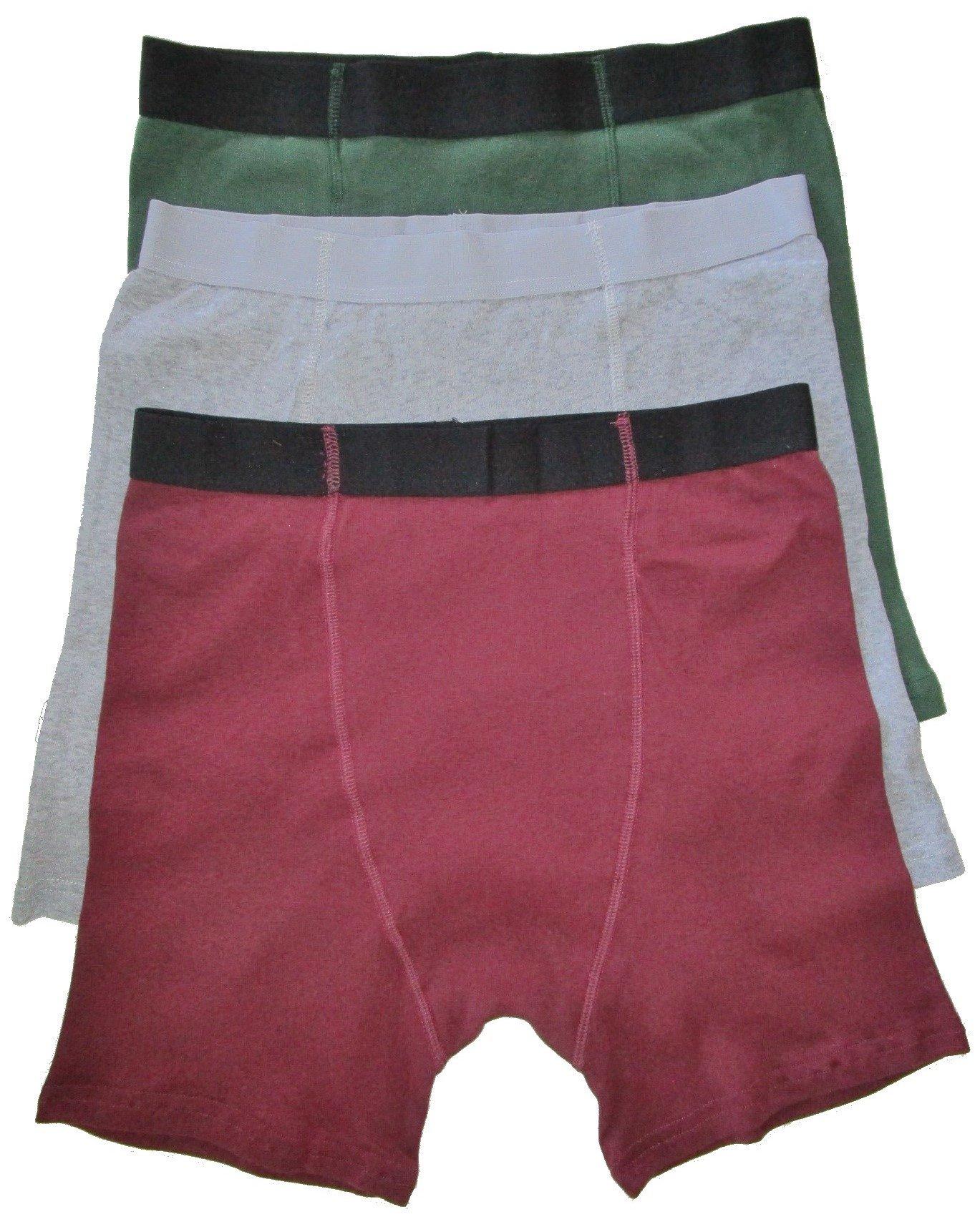 Stashitware Medium Red, Gray, Green Mens Hidden Stash Pocket Underwear.1 ea.