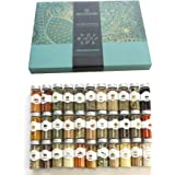 House of Spice - 33pcs Ultimate Organic Spices Starter Gift Set with assorted whole + powdered spices and herbs in a beautiful gift box