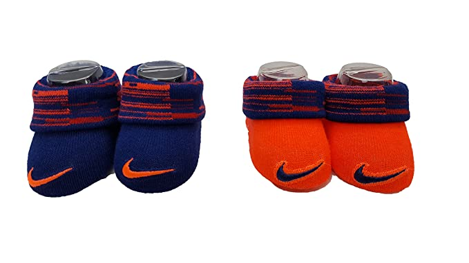 35faf8daca0 Amazon.com  Nike Baby Boys Two-pack Swoosh Booties 0-6 Months ...