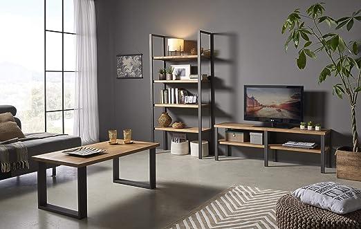 HOGAR24 ES Composición Industrial- Mesa TV + Mesa Centro + ...