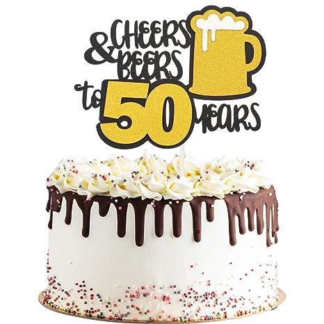 Decoración para tartas con purpurina dorada para cumpleaños ...