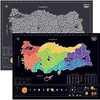 Kazınabilir Güneş Sistemli Plakalı Alan Kodlu Türkiye Haritası Yeni Versiyon XL