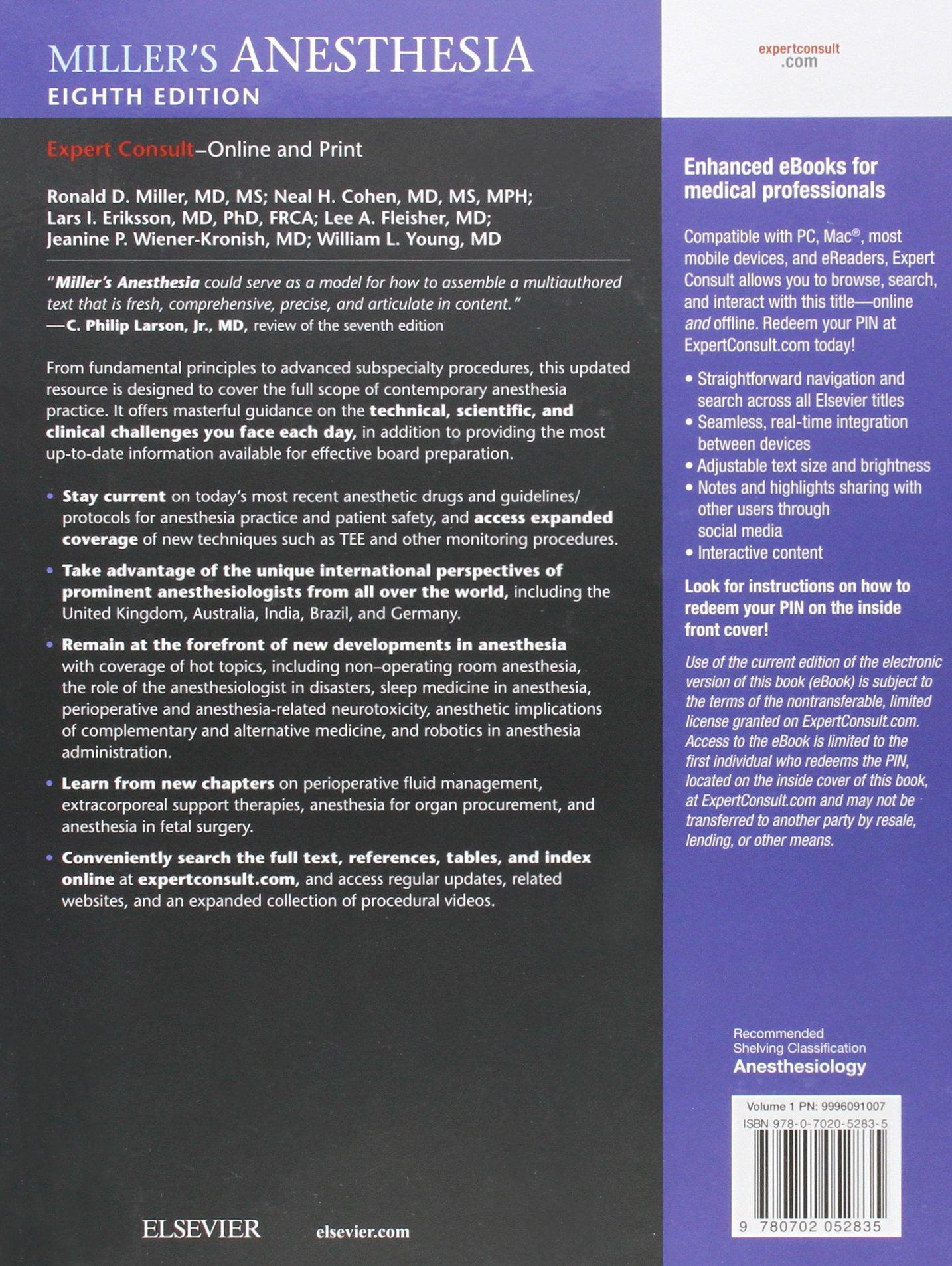 Miller Anaesthesia Ebook