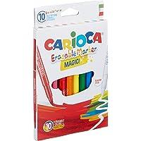Carioca Silinebilir Sihirli Keçeli Kalemler ( 9 Renk + 1 Düzeltici Beyaz Kalem)