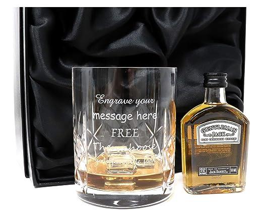 Personalizado/grabado vaso de cristal & Gentleman Jack ...