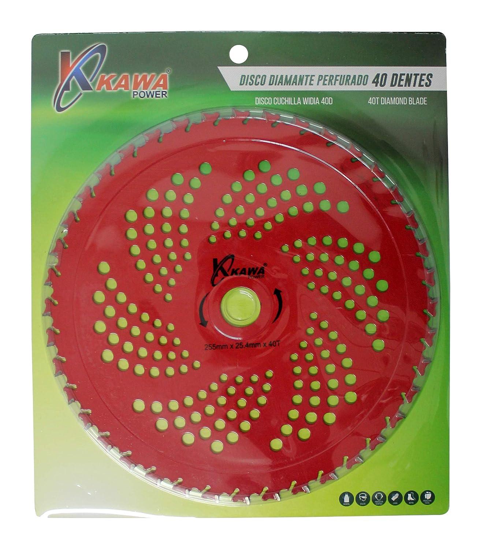 Kawapower KW00540 Disco cuchilla de Widia con 40 puntas para ...