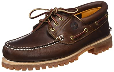 Timberland Men's Classic 3 Eye Lug Boat Shoe, Burgundy/Brown, ...