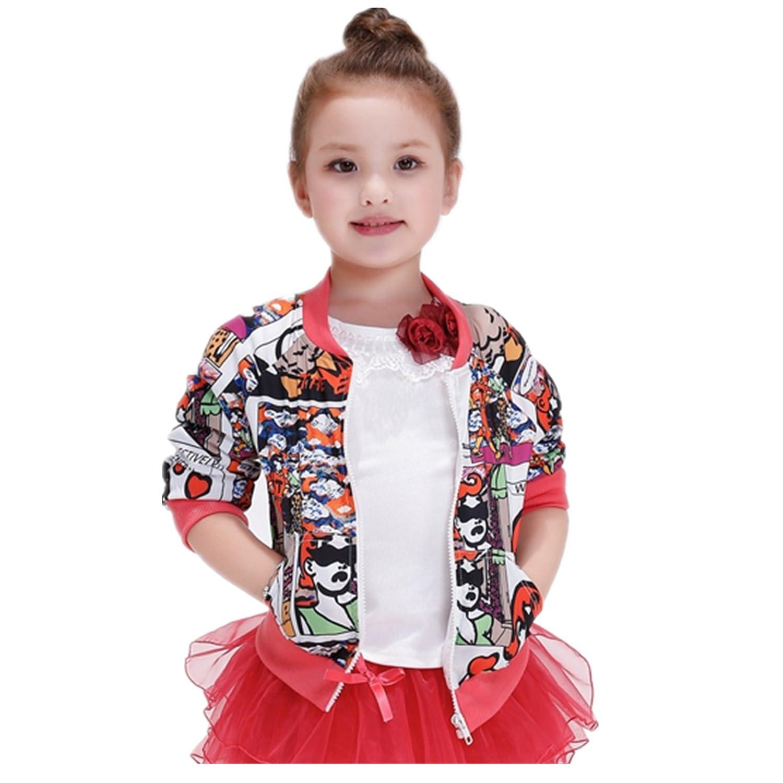 723fb992c Baiduduozi Abrigo - para niña multicolor 2-3 Años: Amazon.es: Ropa y  accesorios
