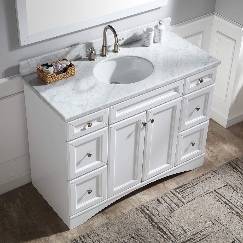 Amazon Promo Code for Single Bathroom Vanity Bathroom Vanity with Marble Top