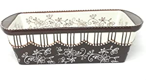 Temp-tations Loaf Pan & Plastic Cover for Meat Loafs or Breads 1.75 Quart (Floral Lace Chocolate)