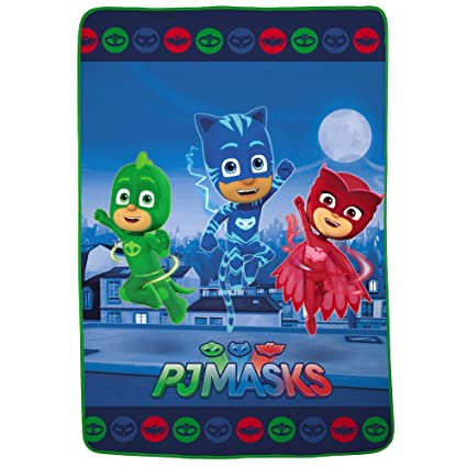 3bc559a39e Amazon.com  PJ Masks Characters Soft Plush Microfiber Kids Bedding ...