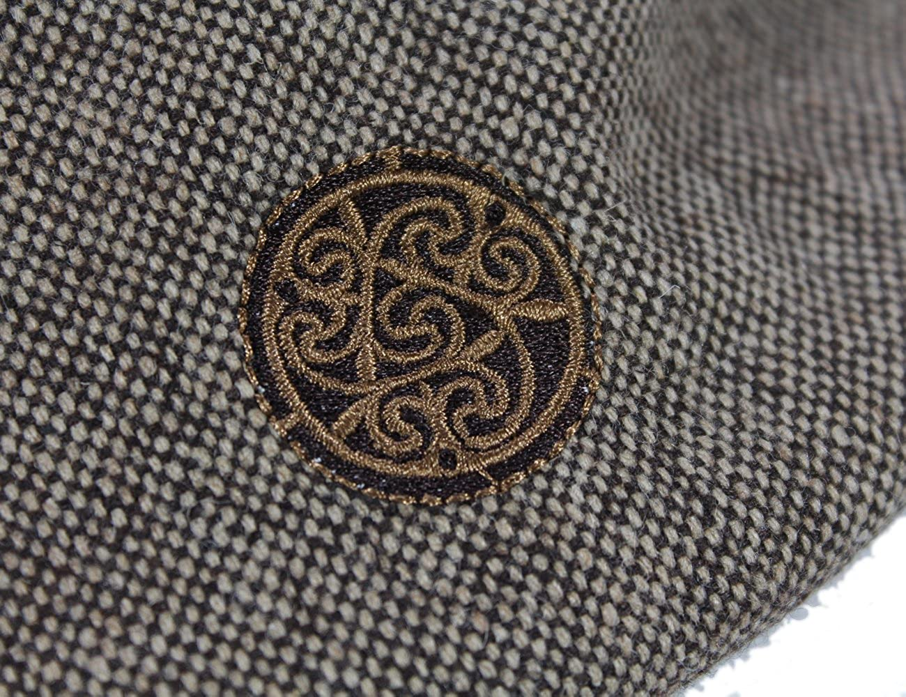 Patrick Francis Patchwork Tweed Flat Cap Celtic Knot Badge