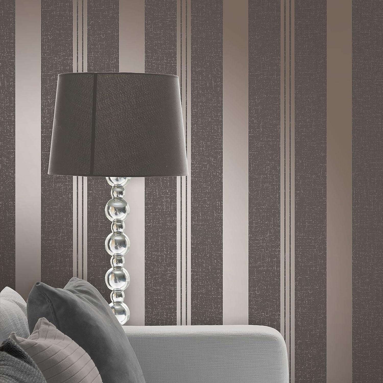Fine Decor Quartz Rose Gold Glitter StripeTextured Feature Wallpaper FD42205