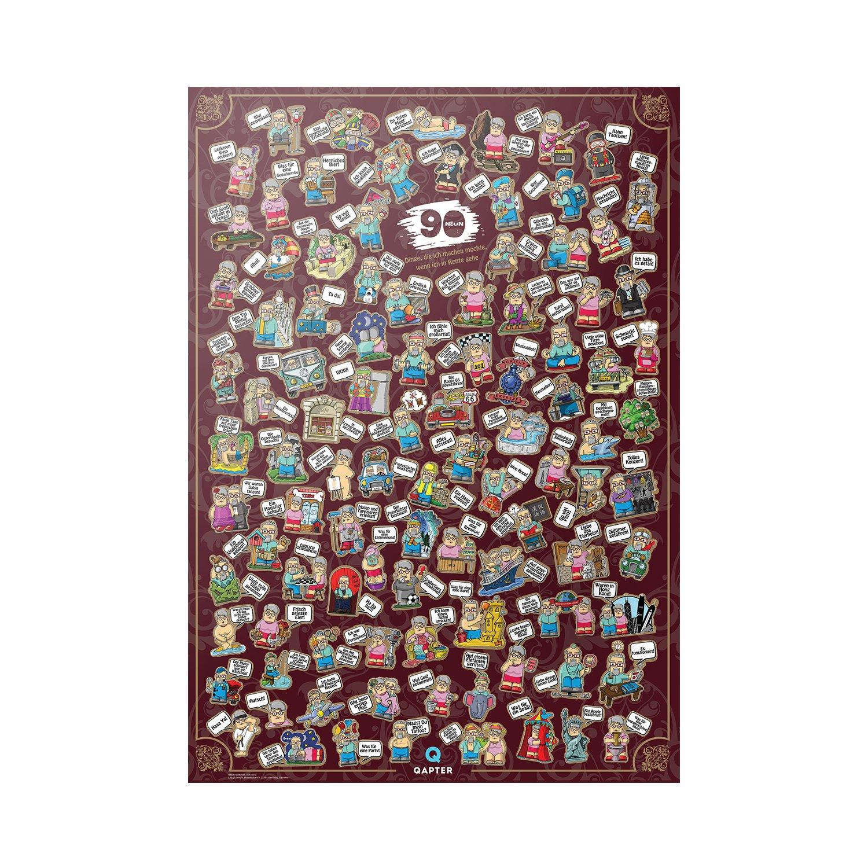 Amazon.de: Qapter Poster Rubbelkarte für Rentner - 99 Dinge, die ich ...