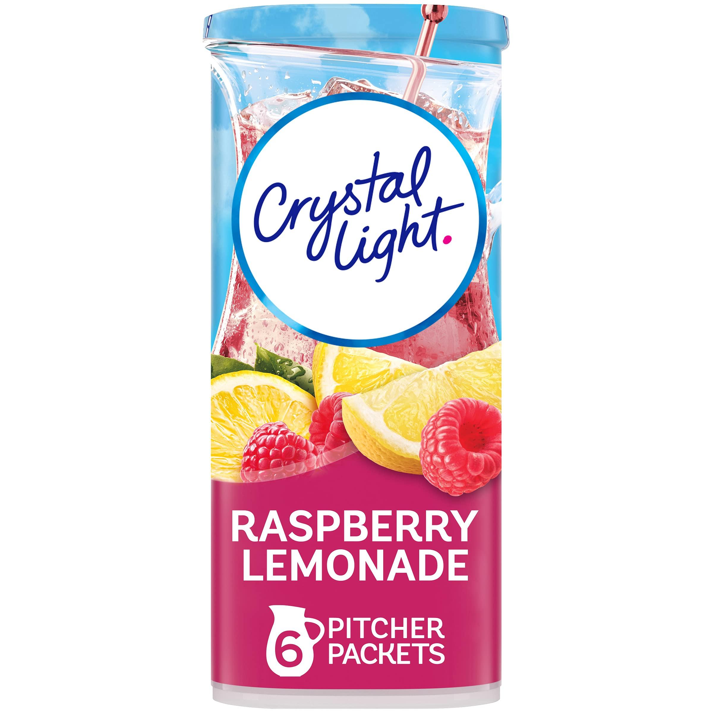 Crystal Light Raspberry Lemonade Drink Mix (72 Pitcher Packets, 12 Packs of 6)