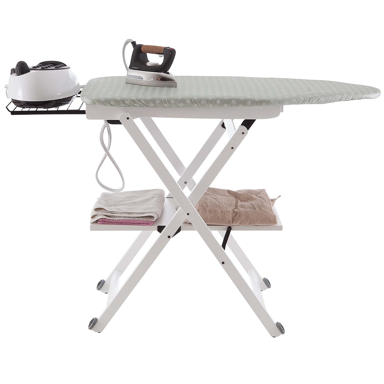 Color: Blanco Ar-It il Cuore del Legno Arredamenti Italia Tabla de Planchar STIROCOMODO Plegable Madera Regulable