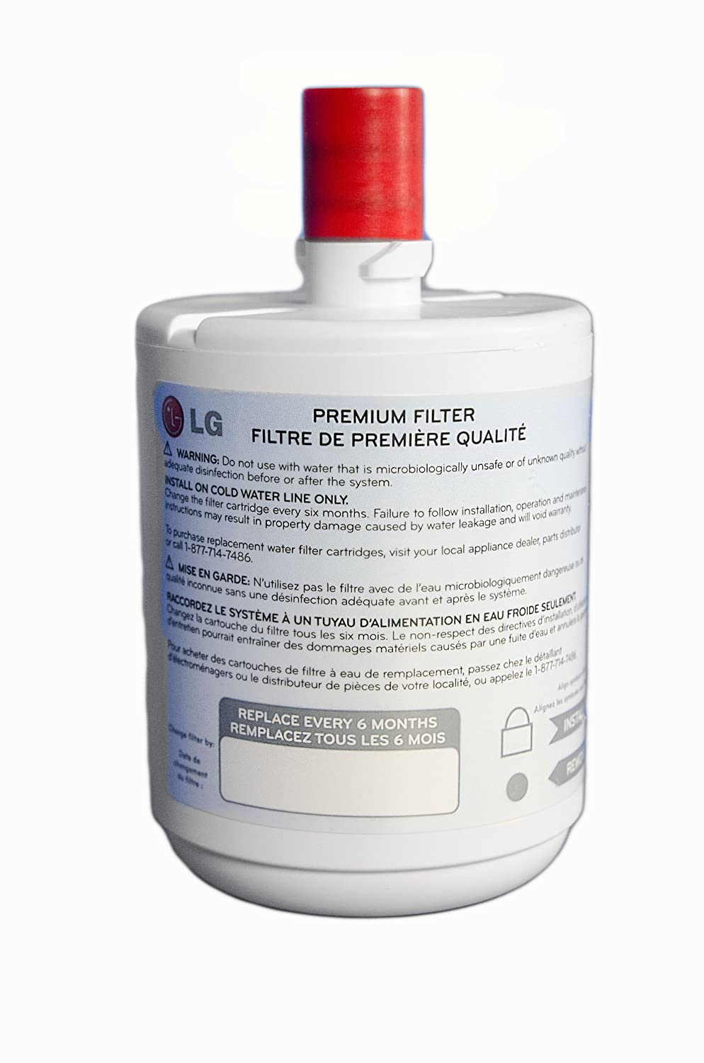 lg refrigerator replacement filter. amazon.com: lg refrigerator water filter (5231ja2002a, lt500p): appliances lg replacement